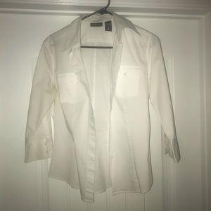 New York & Company White Dress Shirt